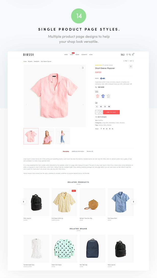 Diassy - Fashion WooCommerce Theme - 5